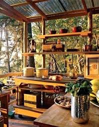 Rustic Outdoor Kitchen Ideas Decorating Kitchens Pictures