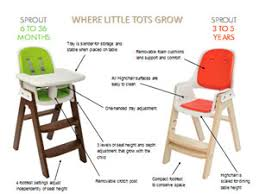 oxo tot sprout highchair taupe birch amazon co uk baby