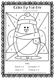 Winter Math Numbers To 10 Recognise Ten Worksheets