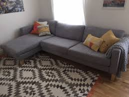 Karlstad Sofa Leg Options by Ikea Karlstad Three Seat Sofa And Chaise Longue Isunda Grey