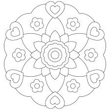Flowerish Mandala Coloring Pages For Kids Printable Mandalas