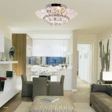 Flush Mount Pendant Light Elegant Lightinthebox Modern Semi In Crystal Feature Home