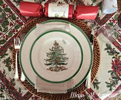 Spode Christmas Tree Platter by A Little Look At Our Christmas Main St Cuisine