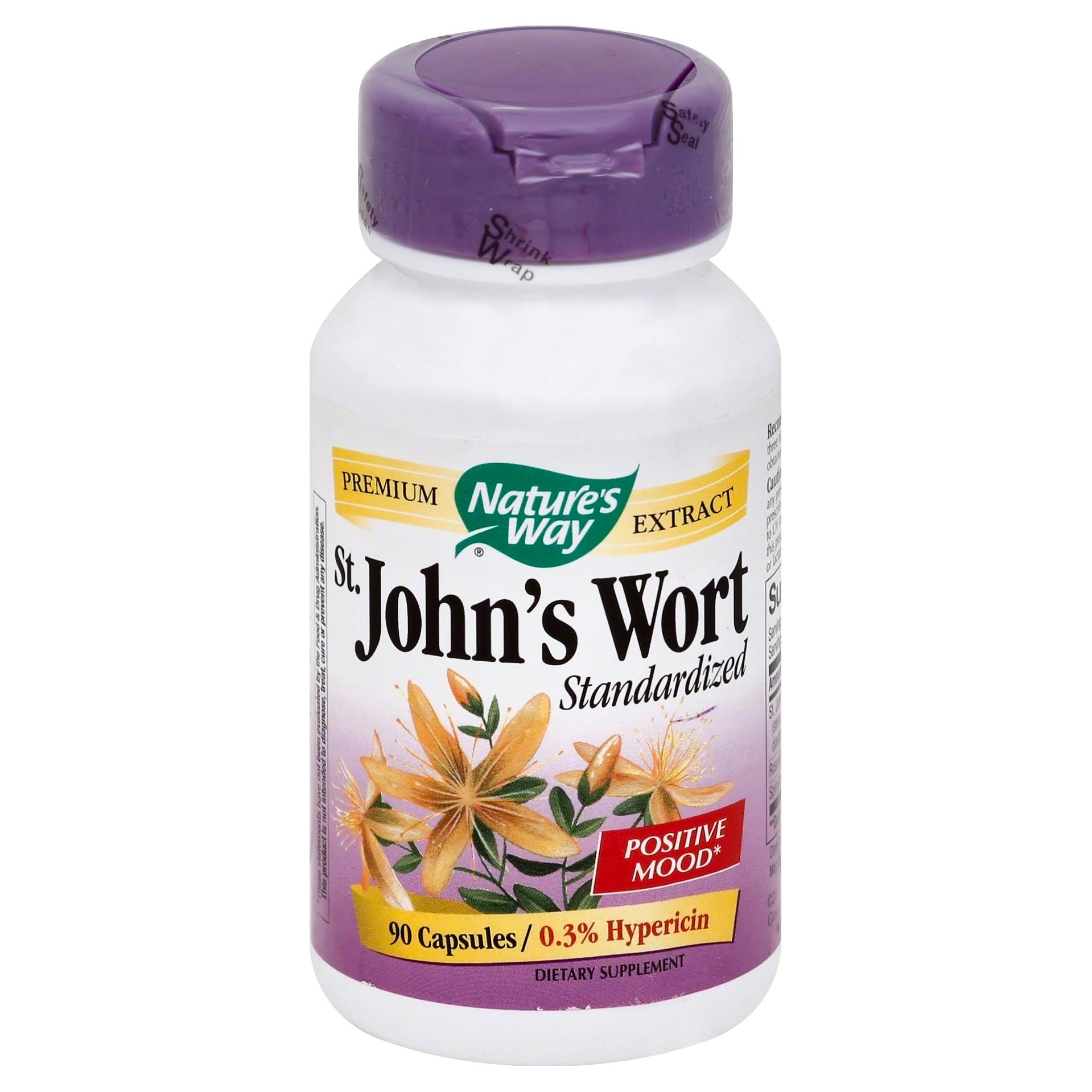 Nature's Way St John's Wort Standardized Dietary Supplement - 90 Capsules