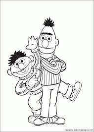 Ernie Bert Coloring Pages