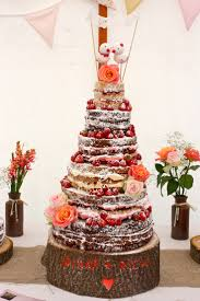 Naked Rustic Wedding Cakerustic Autumn Cakenaked Cake Flower