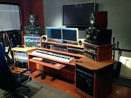 Music Studio Setup Ideas Bedroom Desk Workstation Home Design Simple Production