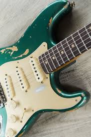 Fender Custom Shop Limited Edition 59 Stratocaster Heavy Relic Guitar Aged Sherwood Green Metallic