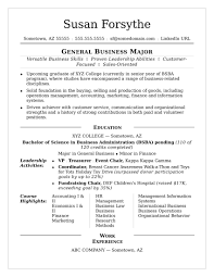 Resume Examples College Student Sample Monster