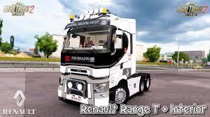 RENAULT RANGE T + INTERIOR V7.0 1.31.X TRUCK MOD - ETS2 Mod