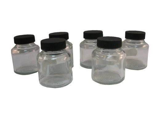 Badger Air-Brush Co. 50-0053B Jar and Cover - 60ml, Box of 6
