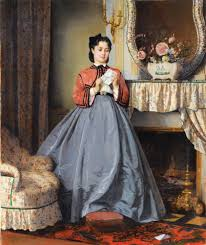 File Auguste Toulmouche The Love Letter 1863 Wikimedia mons
