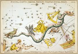 Corvus Crater And Other Constellations Seen Around Hydra From Uranias Mirror 1825