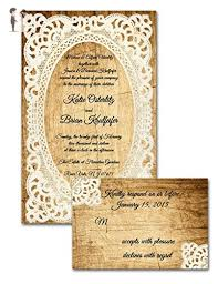 Rustic Wedding Invitations With RSVP Lace Country