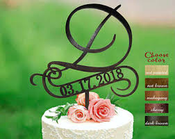 D Cake Topper For Wedding With Date Letter