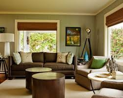 decorating your your small home design with luxury cool brown sofa