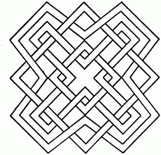 Geometric Coloring Pages Page Easy