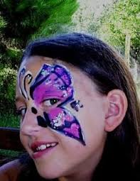 Face Paint Butterflies Flowers