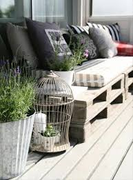 The Birdcage Planter And Pallet Sofa Are Enhancing Appearance Of This Small Balcony A Is Good To Have On Patio Or Terrace