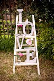 Vintage Ladder Styled For Wedding Pretty Sure This Would Be Easy Cheap To Make Random Decor Maybe By The Gift Or Old Photo Tables