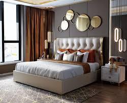 designer doppelbett bett hotel luxus schlafzimmer 180 200x200cm leder metall neu