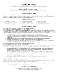 Resume Examples For Banking Market Research Analyst Objective Investment Intern