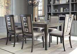 Chadoni Gray Rectangular Dining Room Extension Table W 6 Upholstered Side ChairsSignature Design