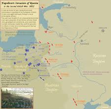 Map Of Napoleons Invasion Russia In 1812