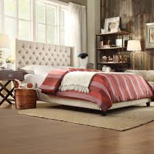 Roma Tufted Wingback Bed King by Wingback Headboard Endearing Wingback Tufted Headboard Living