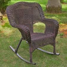 International Caravan Chelsea Wicker Resin Patio Rocking Chair