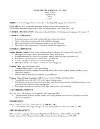 Sample Of 12 Resume Objectives For Teachers Recommended Samples