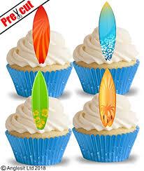 Vorgeschnittenen Cool Surfboards II Essbarem Reispapier Waffel Papier Cupcake Kuchen Dessert Topper Sport Sommer