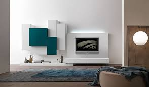 Wall Units Marvellous Living Room Indian Unit Designs Modern Blue White Color
