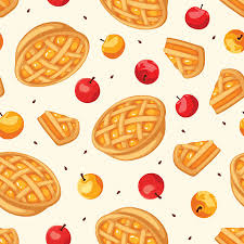 Seamless pattern with apple pies and apples Vector illustration vector art illustration