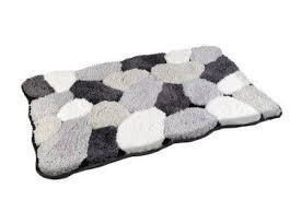 badteppich badvorleger badematte farbe schwarz grau weiss größe 50 x 80cm