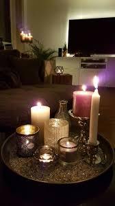 dekoration wohnzimmer kerzen gedämpftes licht diy