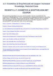 E.l.f. Cosmetics Shopthelook.net Coupon By Ben Cobalt - Issuu 25 Off Elf Cosmetics Uk Promo Codes Hot Deal On Elf Free Shipping Today Only Coupons Elf Birkenstock Usa Online Coupons Milani Cosmetics Coupon Code 2018 Walgreens Free Photo 35 Off Coupon Cosmetic Love Black Friday Kmart Deals 60 Nonnew Etc Items Must Buy 63 Sale Eligible Case Study Breakdown Of Customer Retention Iherb Malaysia Code Tvg386 Haul To 75 Linux Format Pakistan Goldbelly Discount