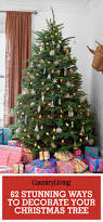 Flocked Christmas Trees Decorated by 60 Best Christmas Tree Decorating Ideas How To Decorate A