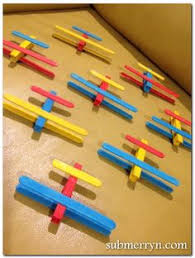 Ice Cream Stick Craft See More Popsicle Airplane