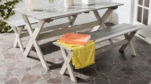The Prettiest Porch And Patio Essentials To Shop From ... Mainstays Cambridge Park Wicker Outdoor Rocking Chair Folding Plush Saucer Multiple Colors Walmartcom Mahogany With Sling Back Natural 6 Foldinhalf Table Black Patio White Solid Wood Slat Brown Shop All Chairs