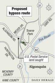 Post office land needed for Western Bypass in Algonquin