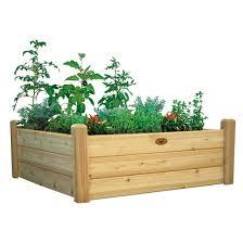 gronomics raised garden bed three tier 34x95x19 unfinished target