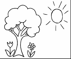 Beautiful Spring Tree Coloring Pages Printable With Color And