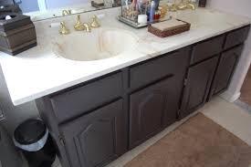 Distressed Bathroom Vanity Gray by Pretty Distressed Bathroom Vanity Makeover With Latex Paint