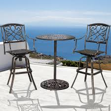 3 PCS Cushioned Patio Wicker Conversation Set, 2 Chairs Bistro And ... Fascating Table Argos Repel Tables Corner St Design Standard Charthouse Counter Height Ding And 6 Stools Gray Value Bar Sets Canada Small Black Square Dinette Round Tommy Bahama Outdoor Living Kingstown Sedona 3 Piece Pub Set 25 Best Bar Stool Patio Set 59 Beautiful Gallery Ipirations For Patio Hire Chairs Target Highboy Space Office Room Chair Darlee Mountain View Cast Alinum Sling High Fniture And In Orland Park Chicago Il Darvin