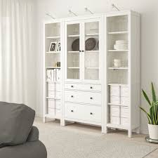 hemnes storage combination w doors drawers white stained