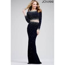 jovani 24600 prom dress navy jersey long sleeved piece prom dres