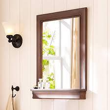 mmwyc badezimmerspiegel mit ablage groß wandspiegel