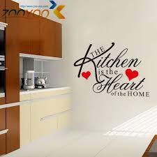 The Kitchen Is Heart Of Home Quote Vinyl Art Wall Stickers Mural Decor Waterproof Tile Big Bird Decals
