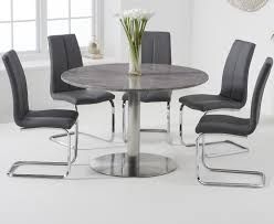 Bali 120cm Round Grey Marble Dining Table With Tarin Dining Chairs